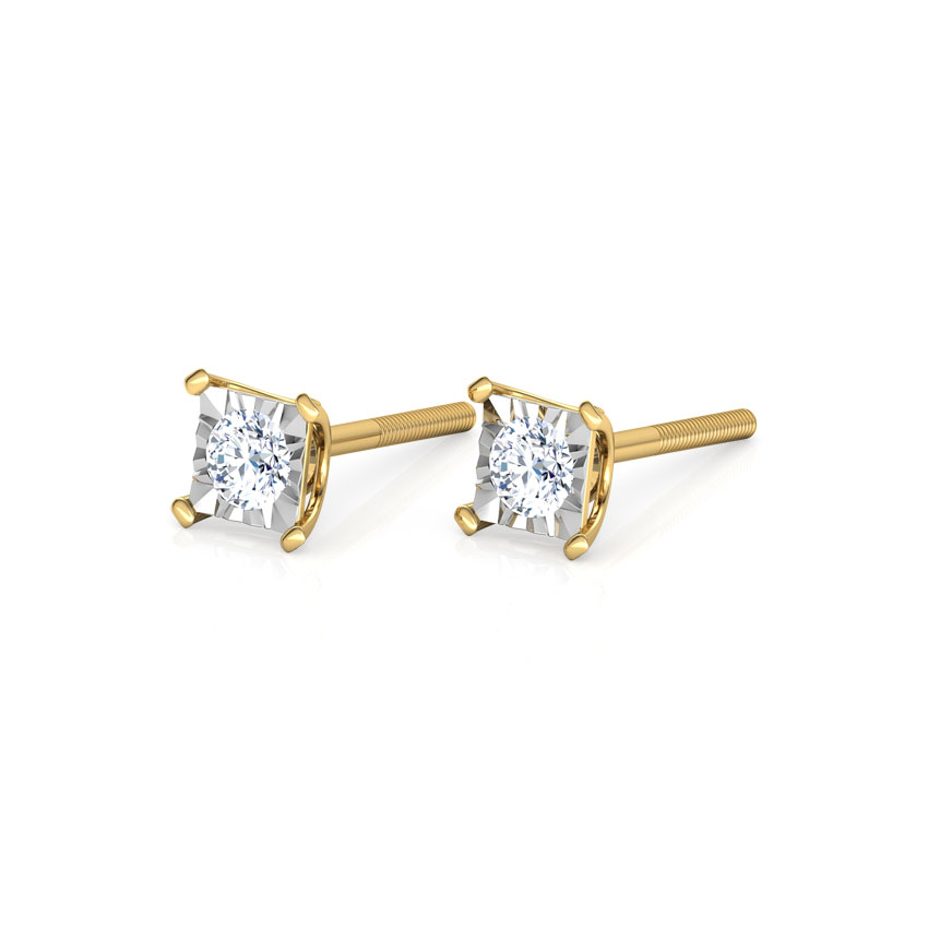Quad Miracle Plate Stud Earrings