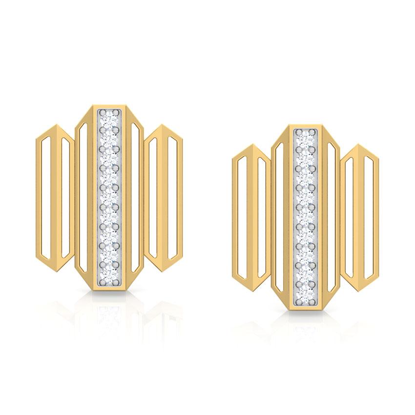 Eros Zigzag Stud Earrings