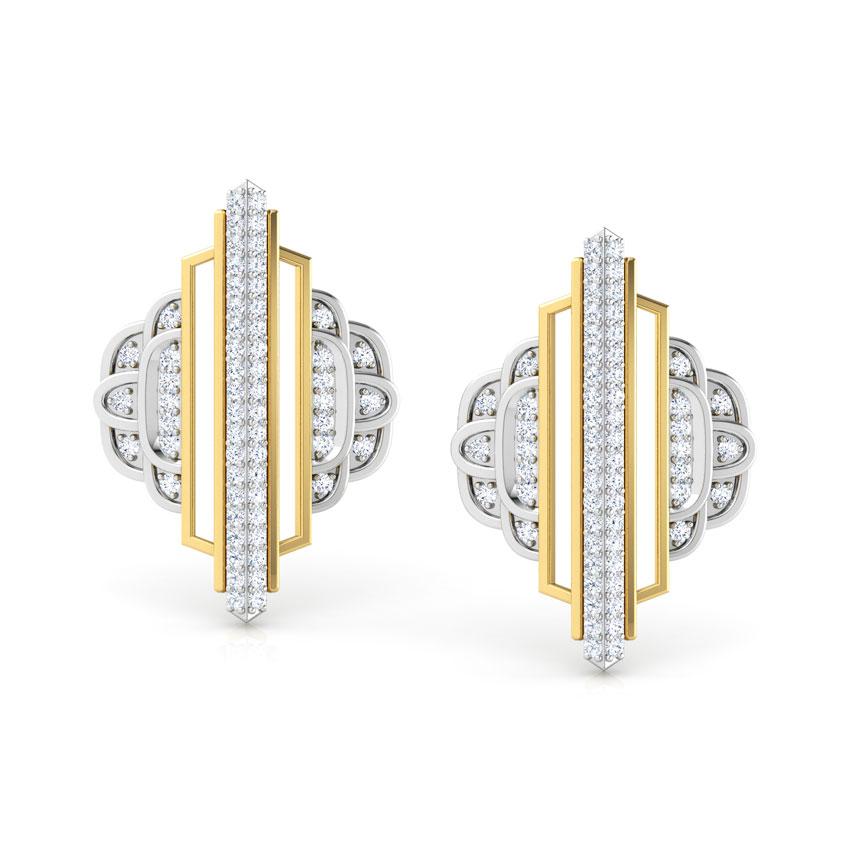 Empress Ziggurat Stud Earrings