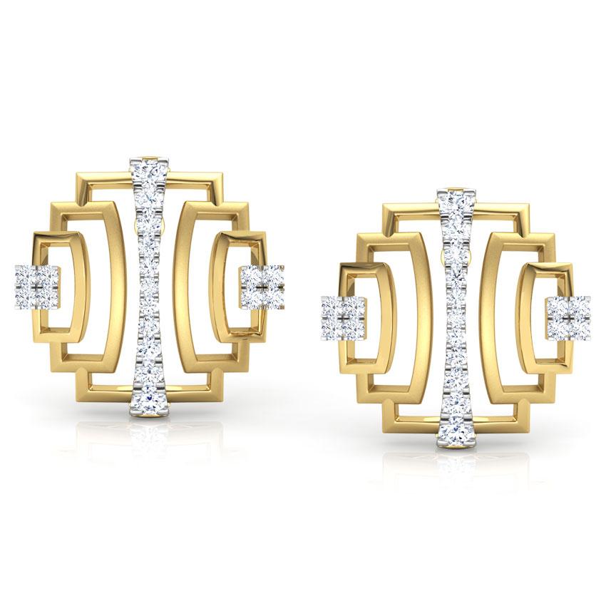 Liberty Ziggurat Stud Earrings