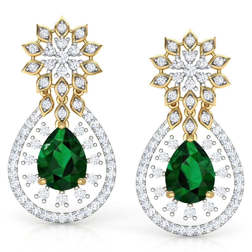 Pear Cluster Drop Earrings