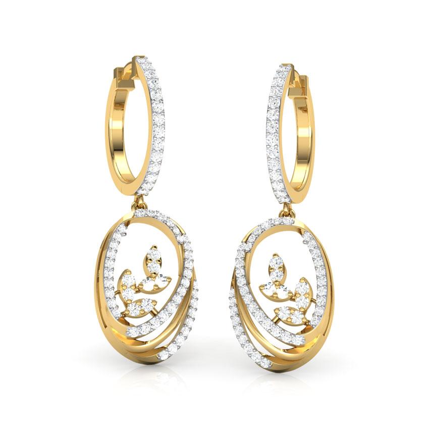 Ovate Entwine Drop Earrings