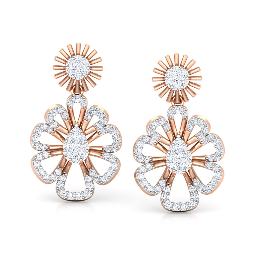 Cosmos Floret Drop Earrings