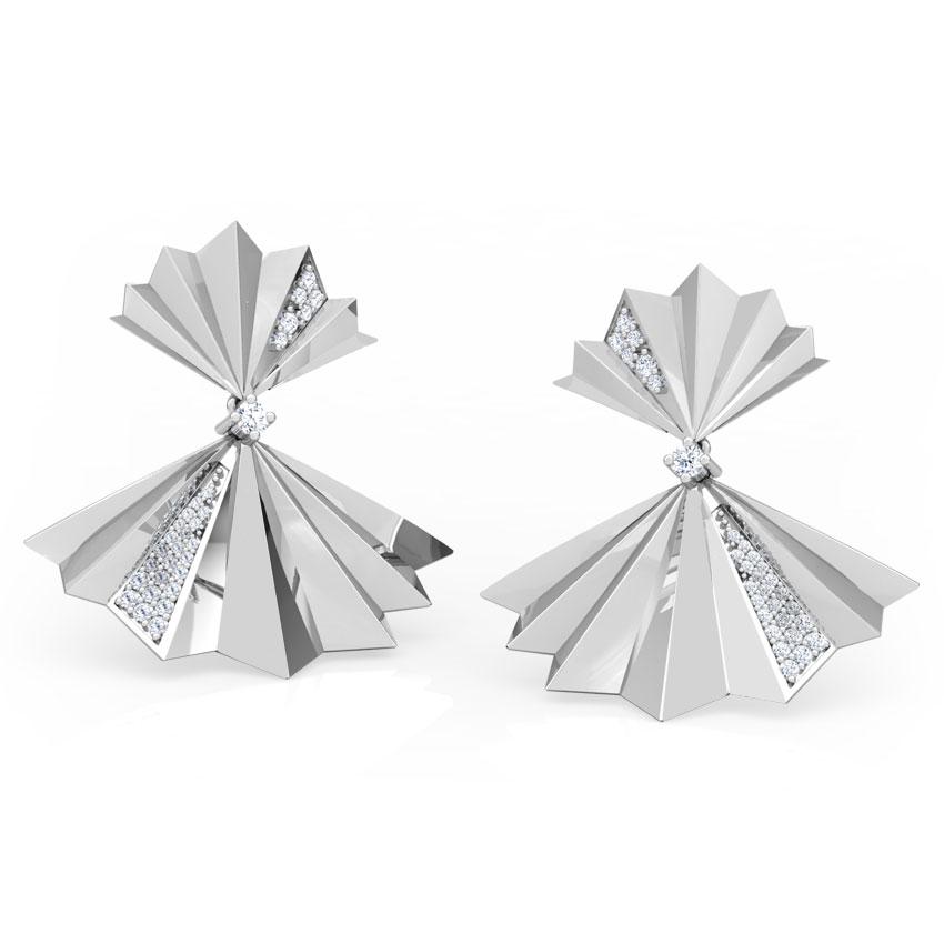 Empress Fan Drop Earrings