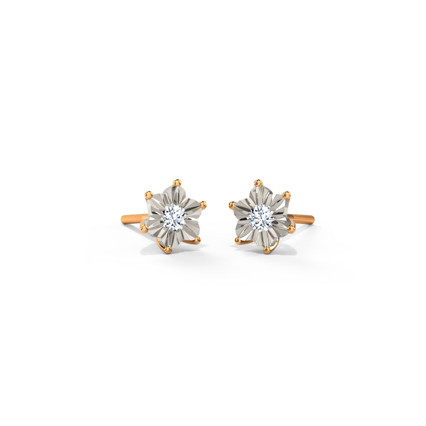 Floret Miracle Plate Stud Earrings