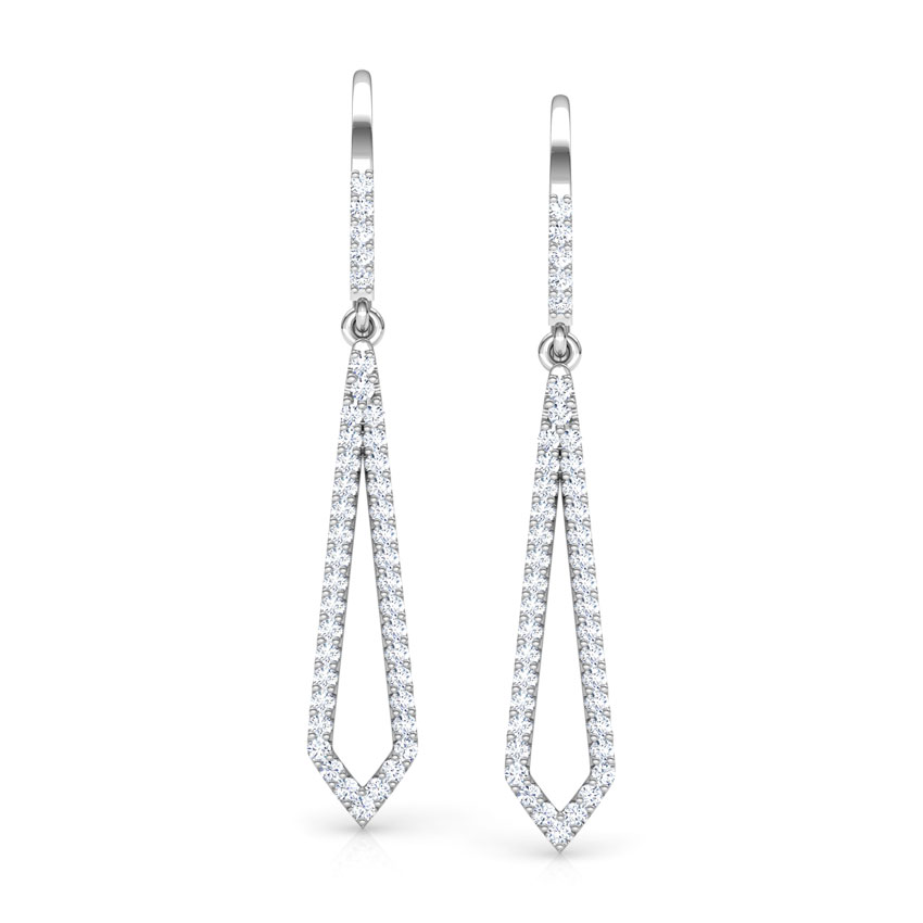Edgy Sleek Drop Earrings