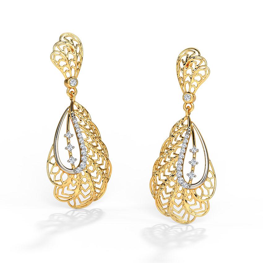 Alocasia Leaf Drop Earrings