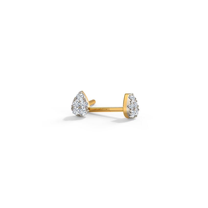 Petite Pear Stud Earrings
