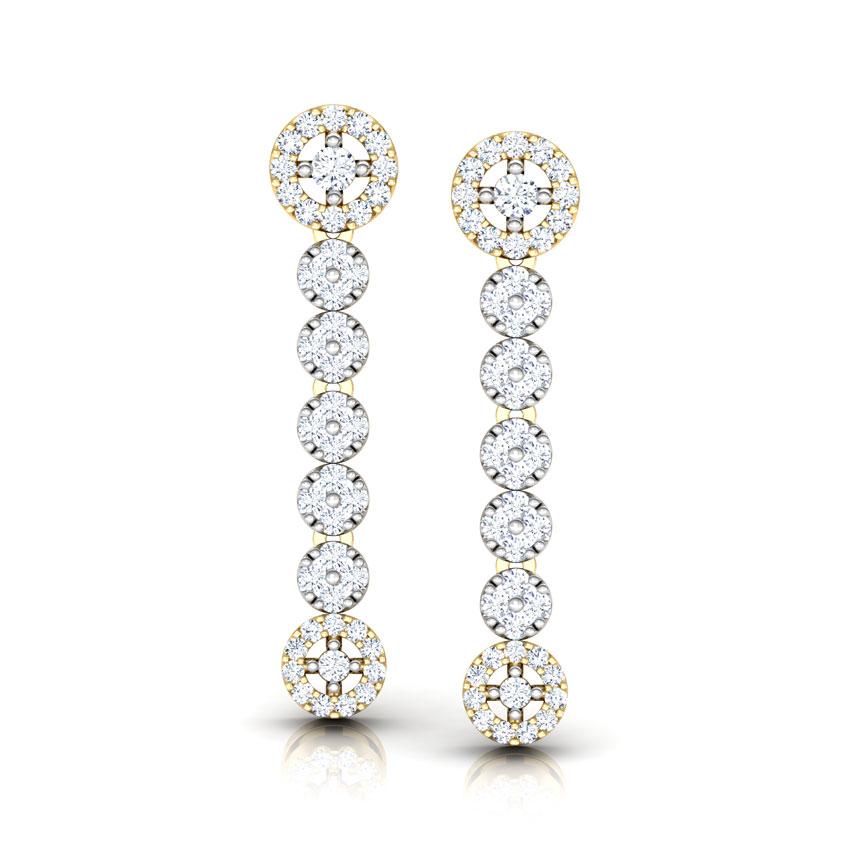 Diamond Earrings 14 Karat Rose Gold Encircle Diamond Drop Earrings
