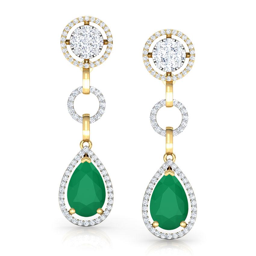 Elegant Halo Drop Earrings