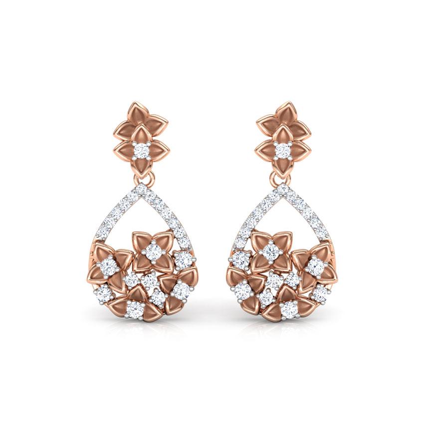 Freesia Floral Drop Earrings