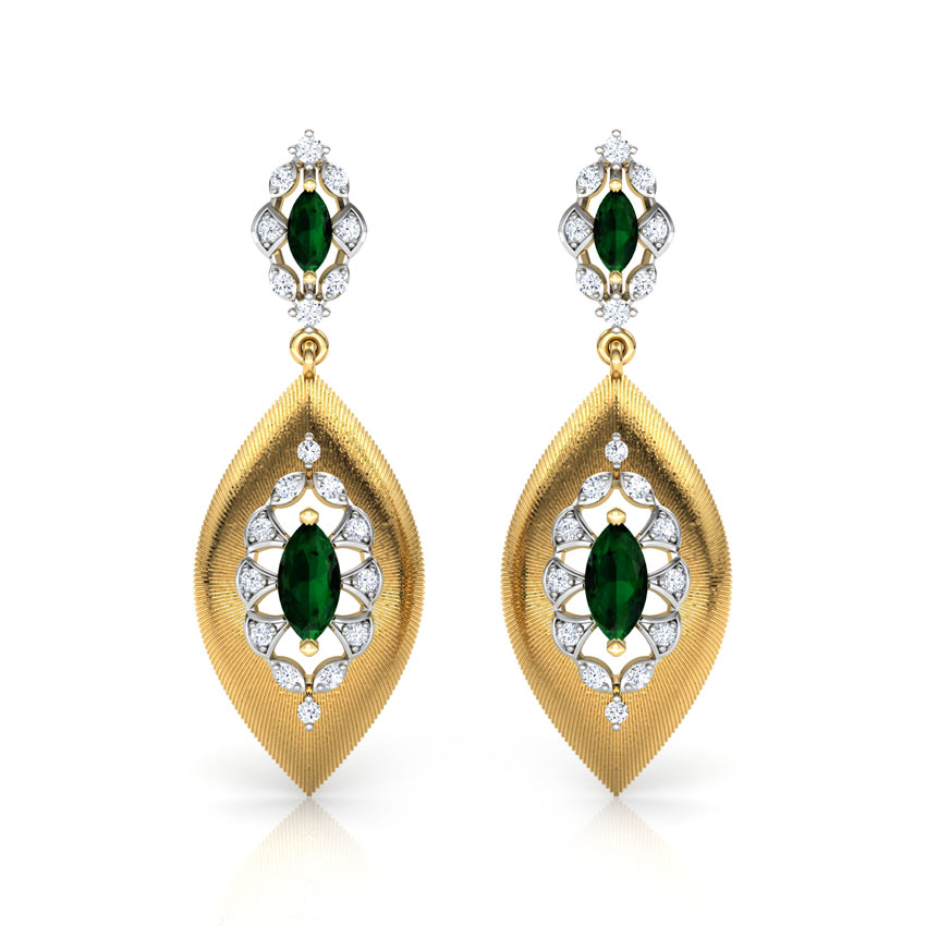 Marquise Brocade Drop Earrings
