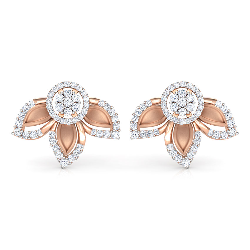 Clematis Floret Stud Earrings