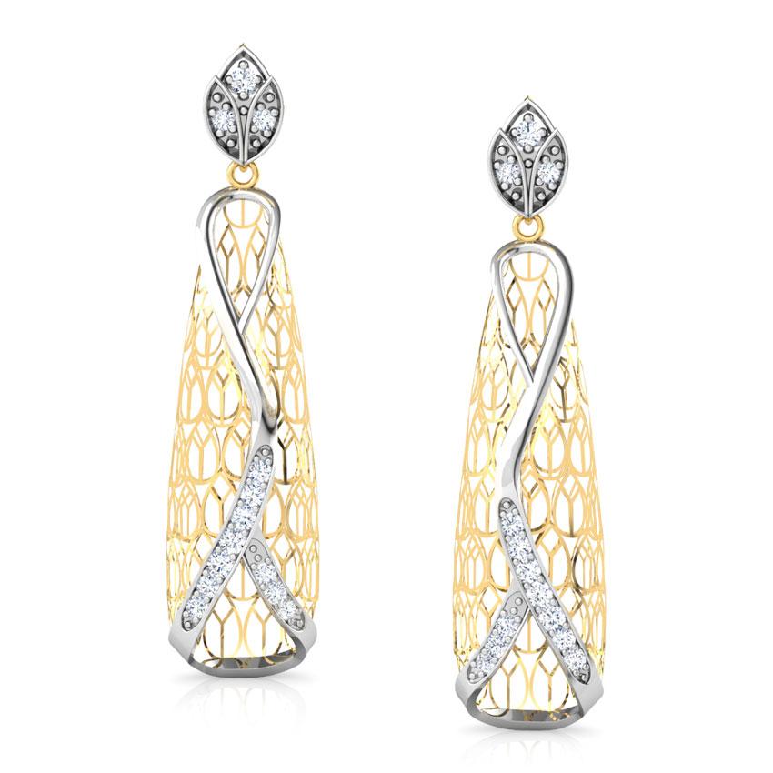 Callista Trellis Diamond Drop Earrings