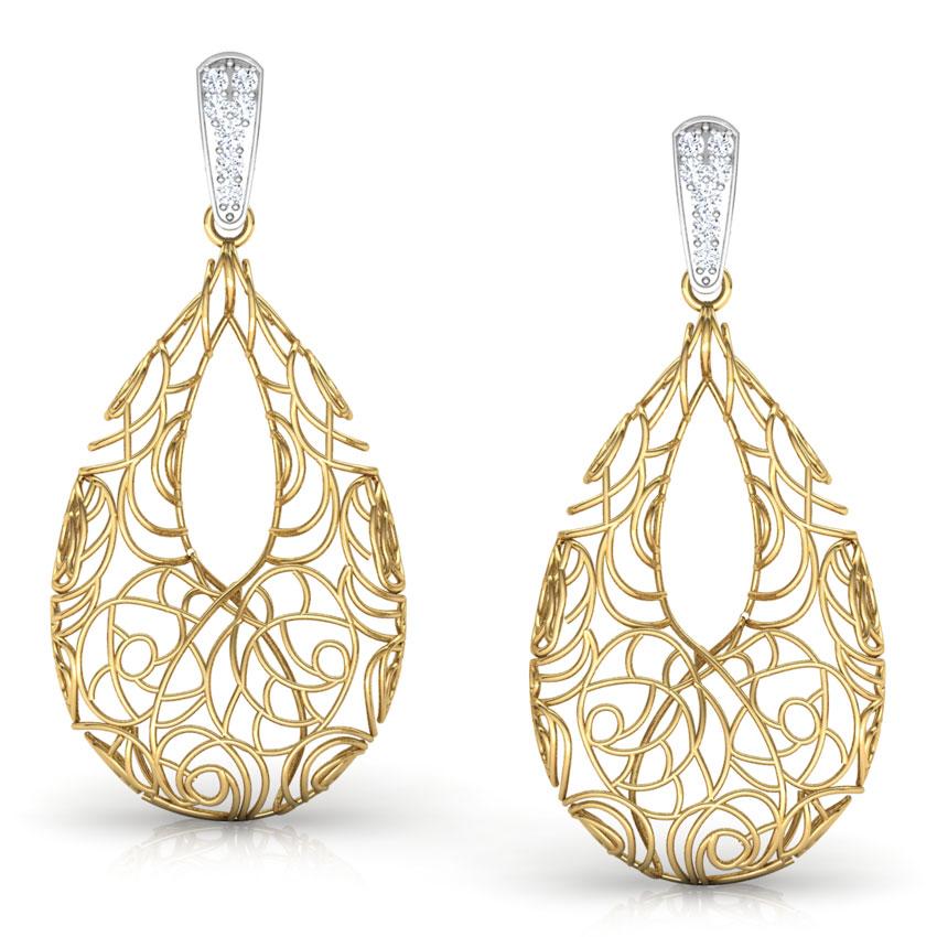 Aquila Trellis Diamond Drop Earrings