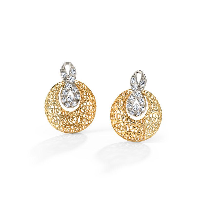 Lisa Trellis Diamond Stud Earrings