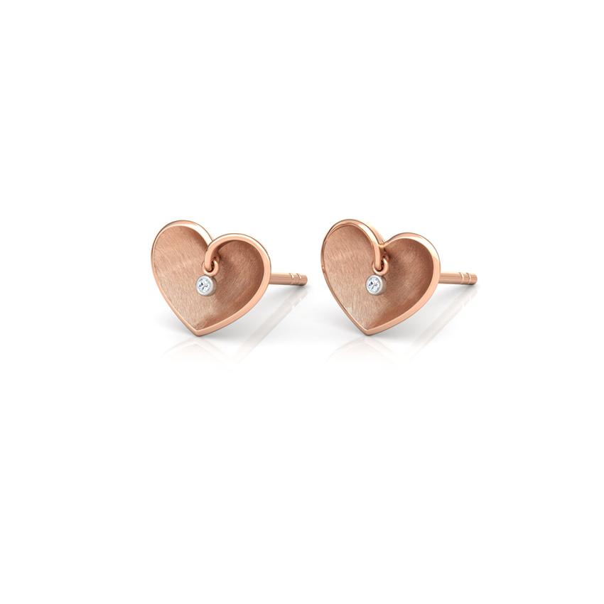 Enfold Heart Stud Earrings