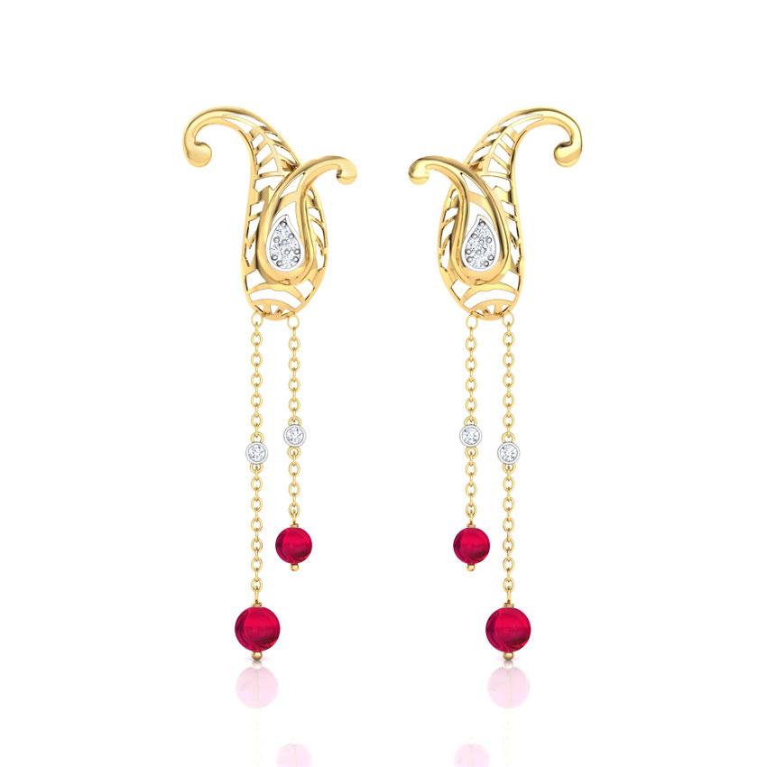 Elegant Paisley Drop Earrings