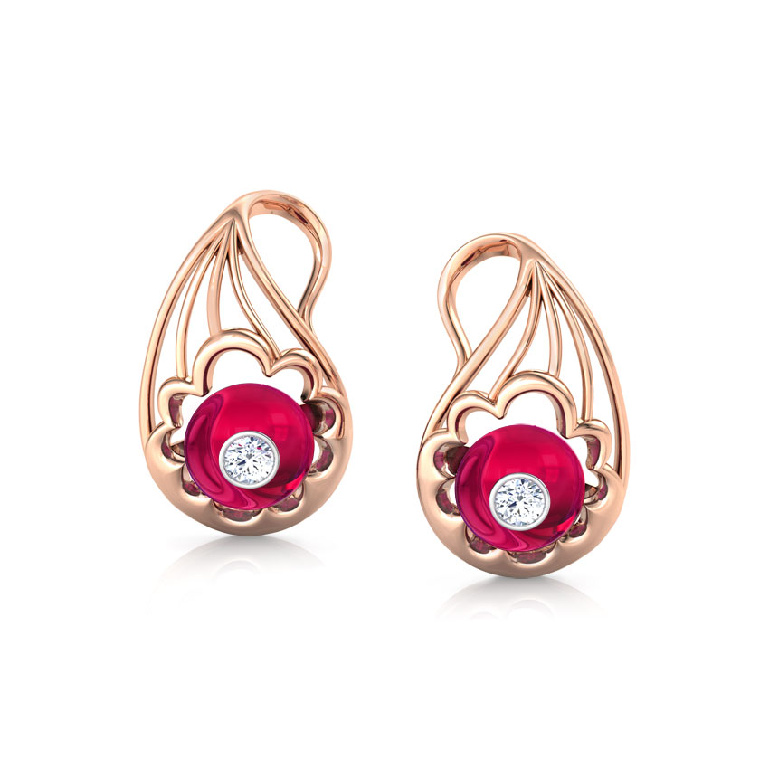 Exquisite Paisley Stud Earrings
