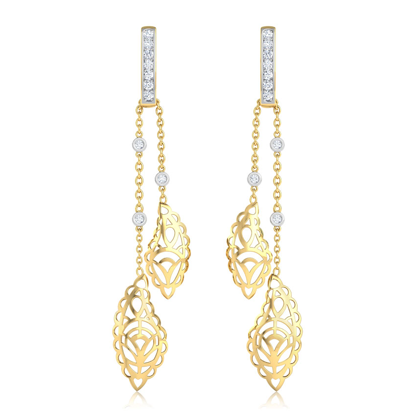 Radiant Paisley Drop Earrings