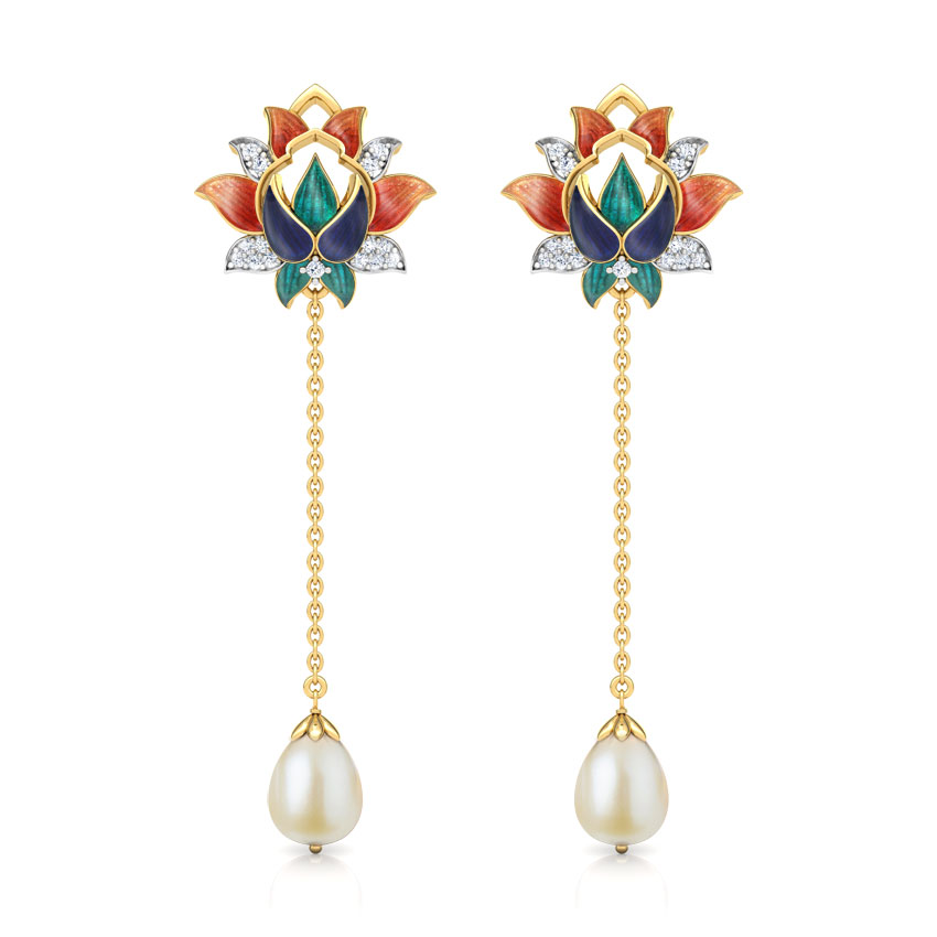 Fahima Lotus Drop Earrings