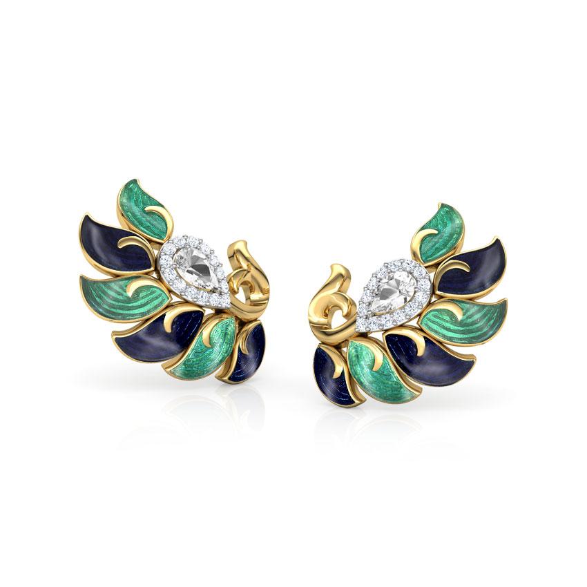 Ruhi Kingfisher Ear Cuffs