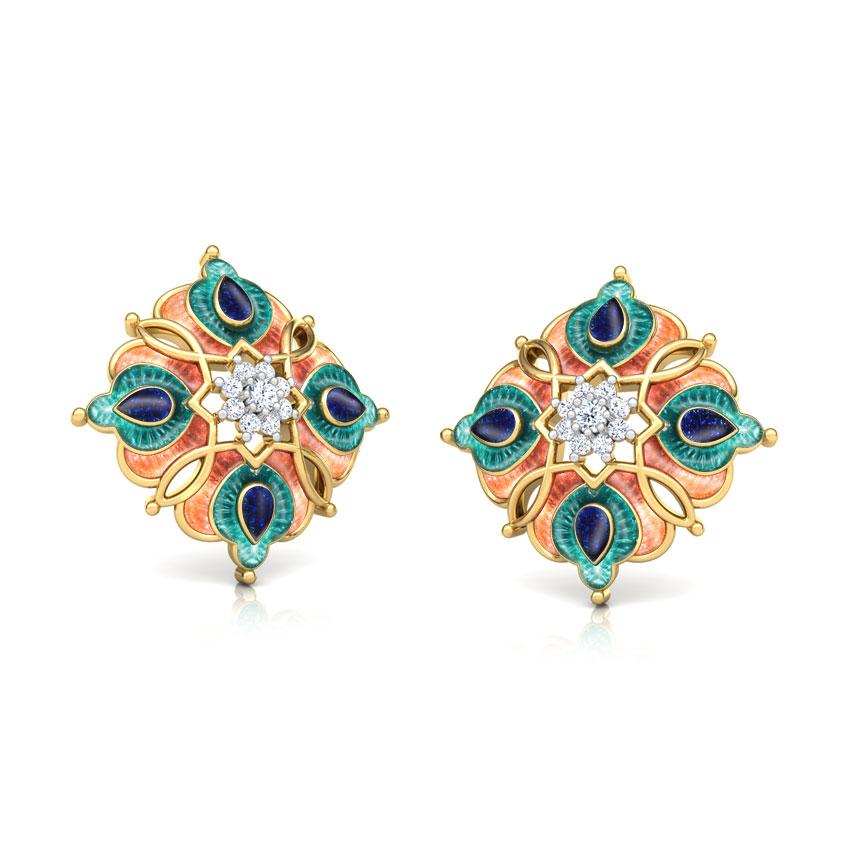 Ziya Floral Stud Earrings