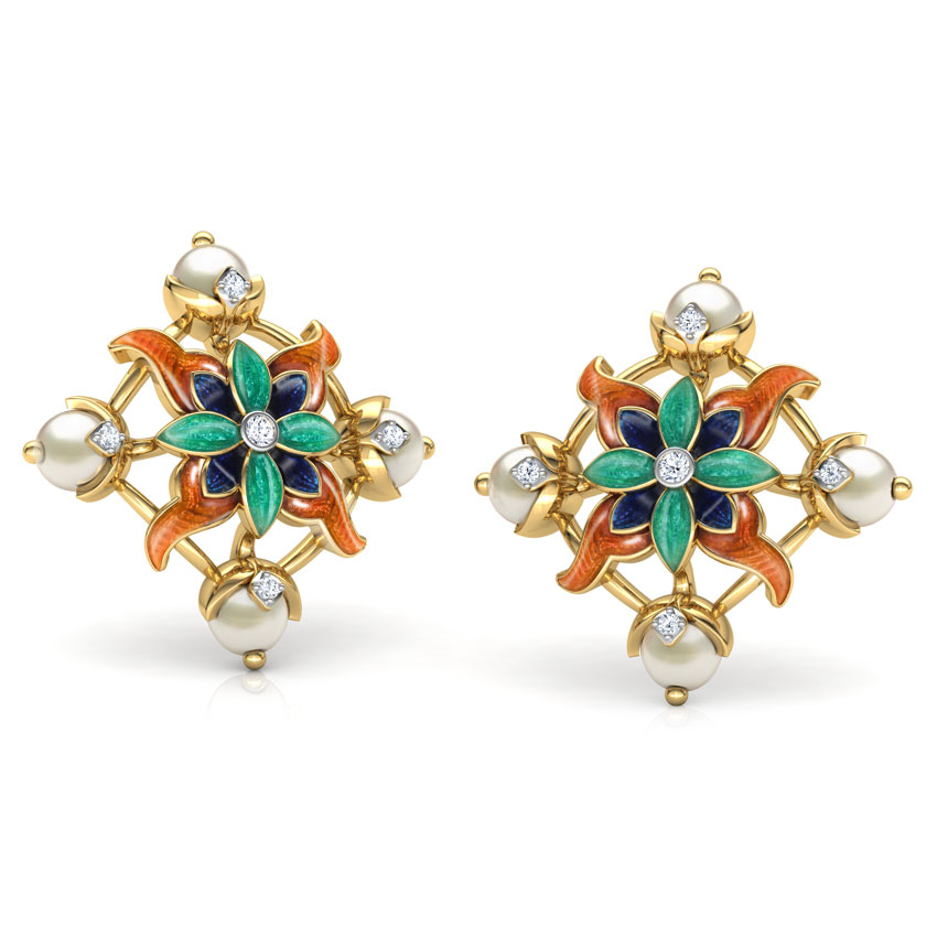 Adah Lily Stud Earrings