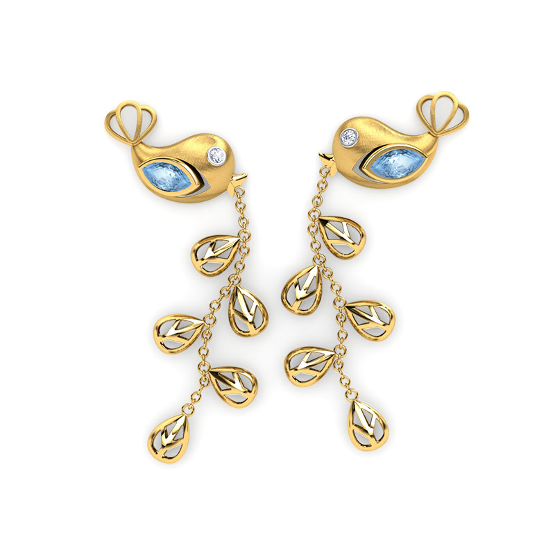 Sarika Sprig Drop Earrings