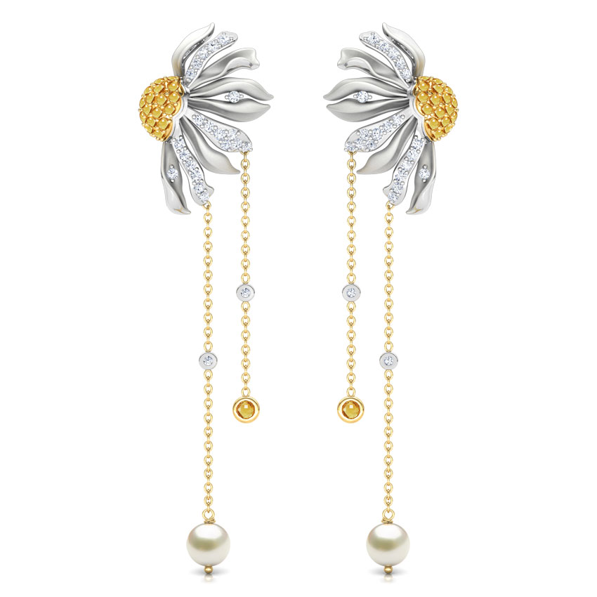 Gazania Floret Drop Earrings