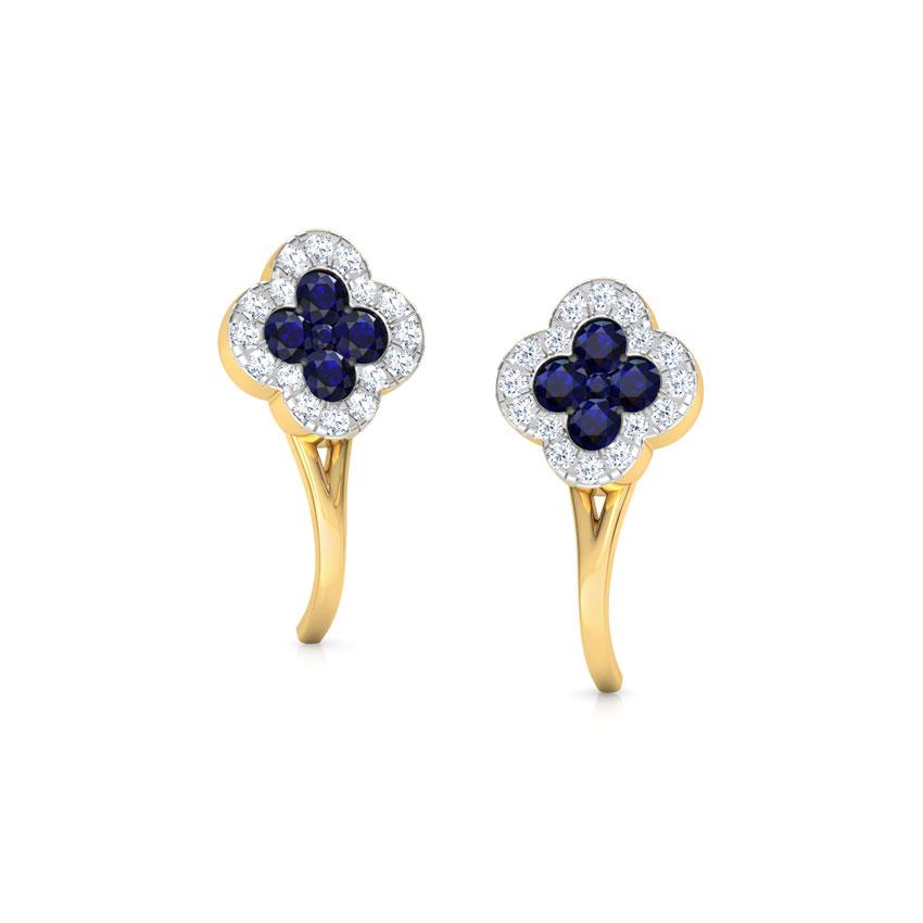 Sapphire Floret Stud Earrings