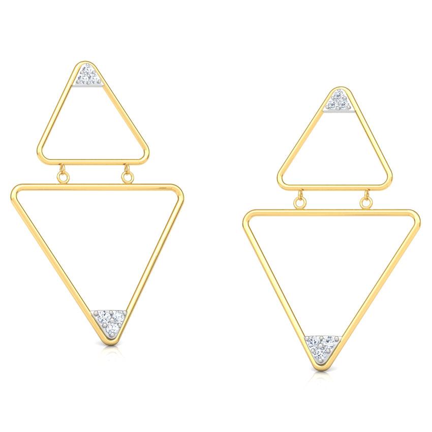 Modern Trigon Drop Earrings
