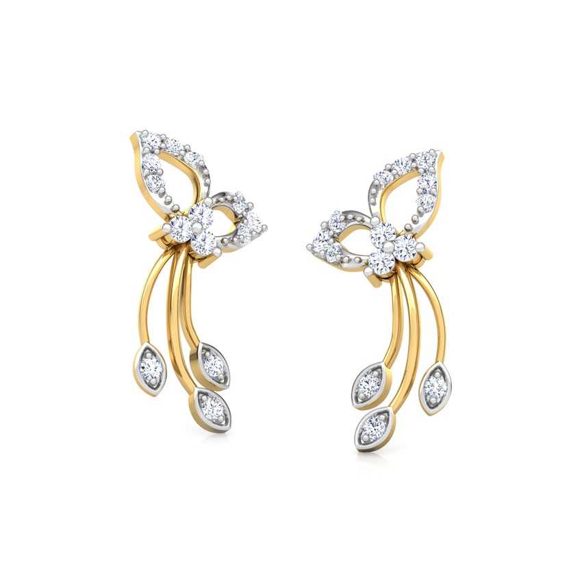 Twinkling Petals Stud Earrings
