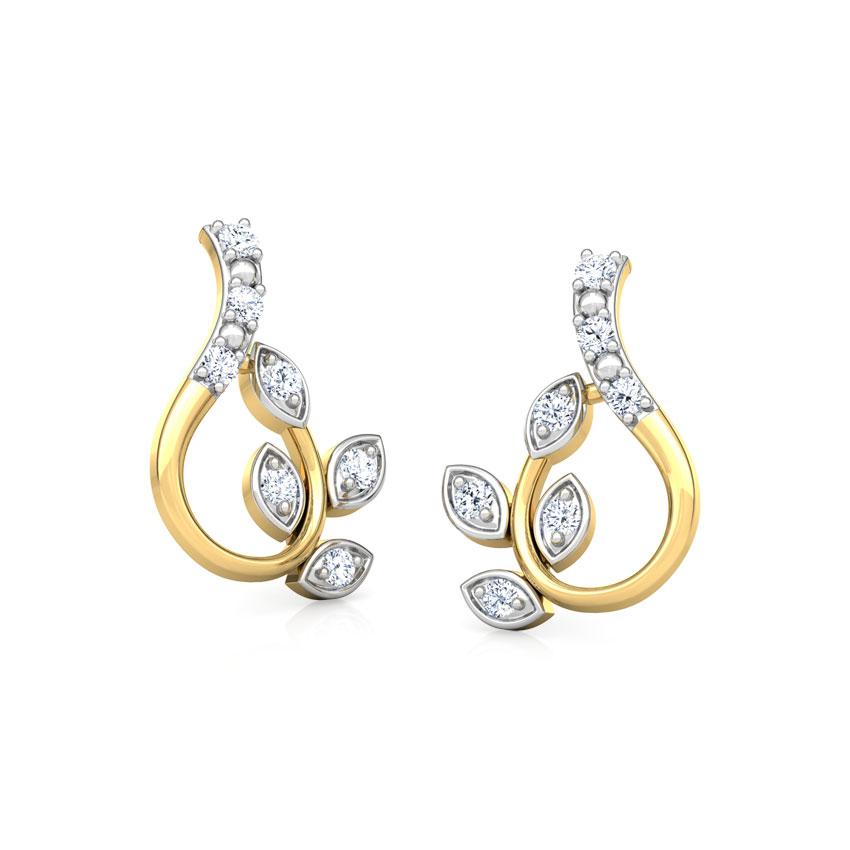 Gleaming Petals Stud Earrings