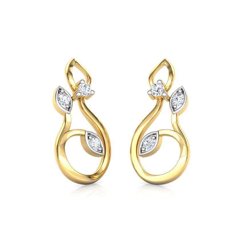 Glinting Petals Stud Earrings