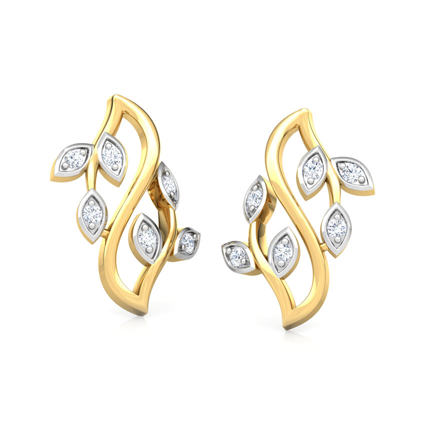 Shimmering Petals Stud Earrings