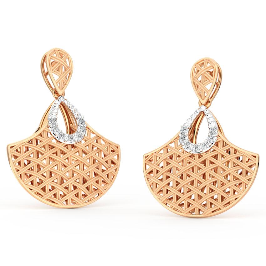 Flare Interlaced Drop Earrings