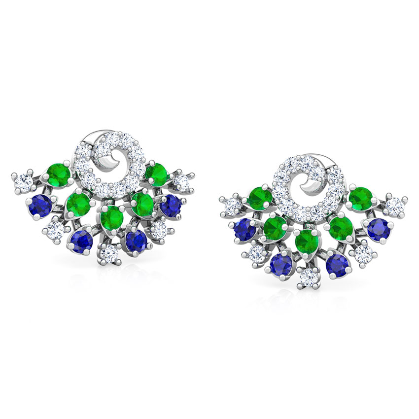 Tanya Vibrant Stud Earrings