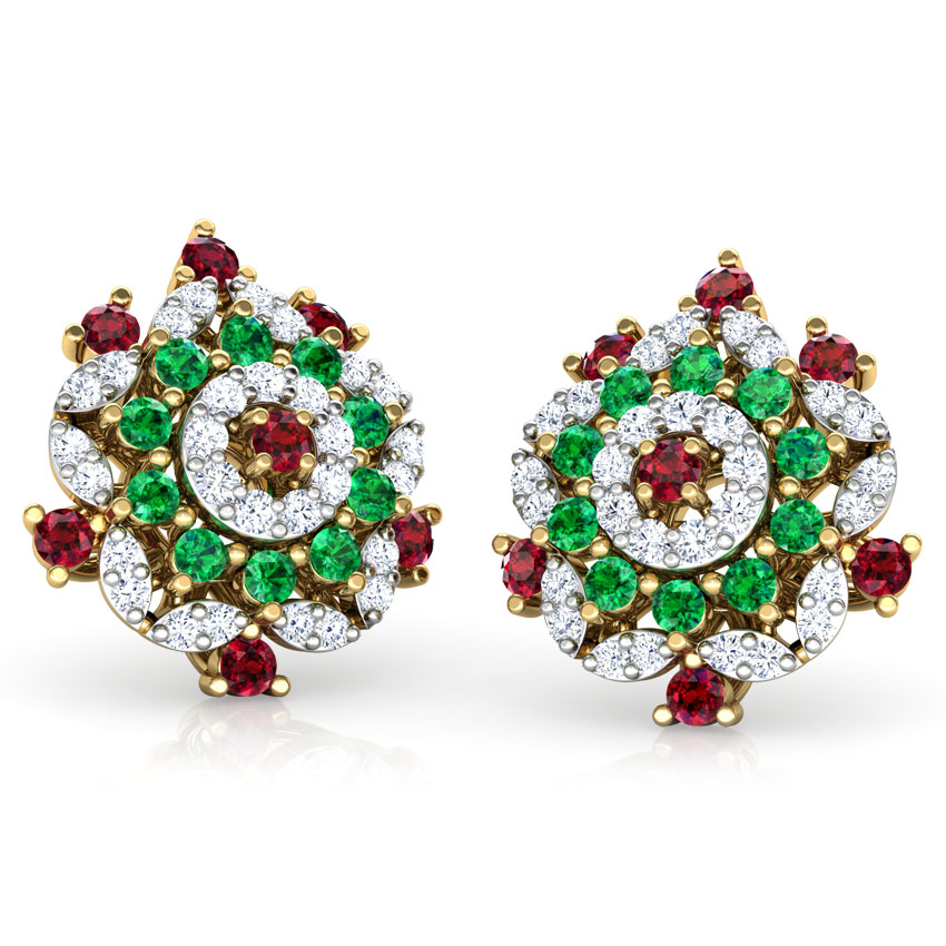 Tara Vibrant Stud Earrings