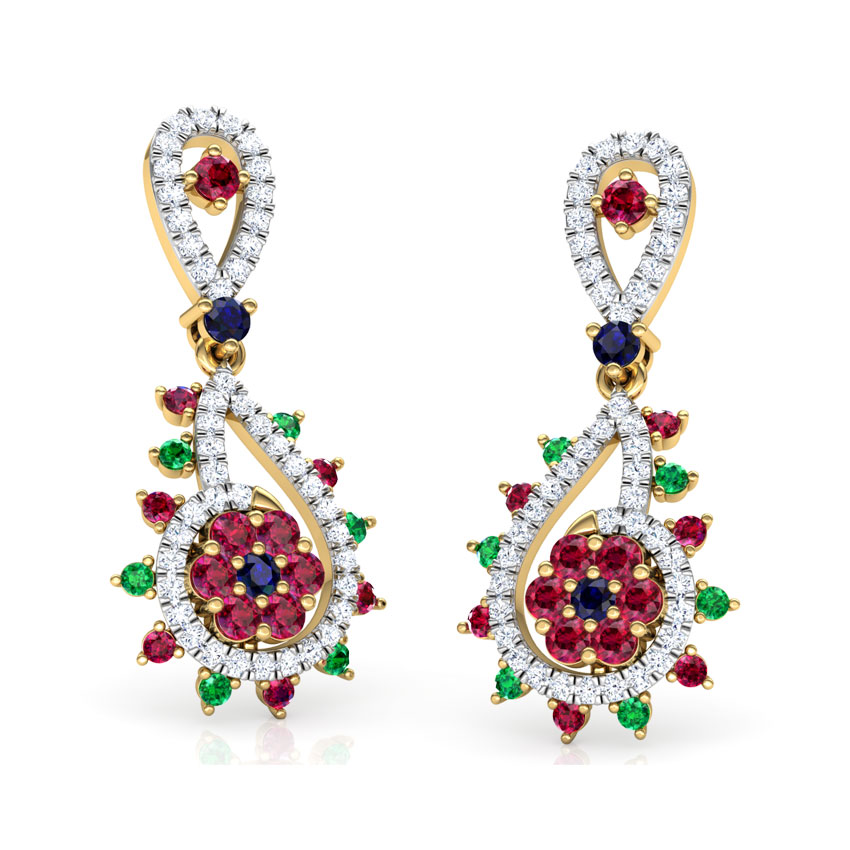 Pia Vibrant Drop Earrings