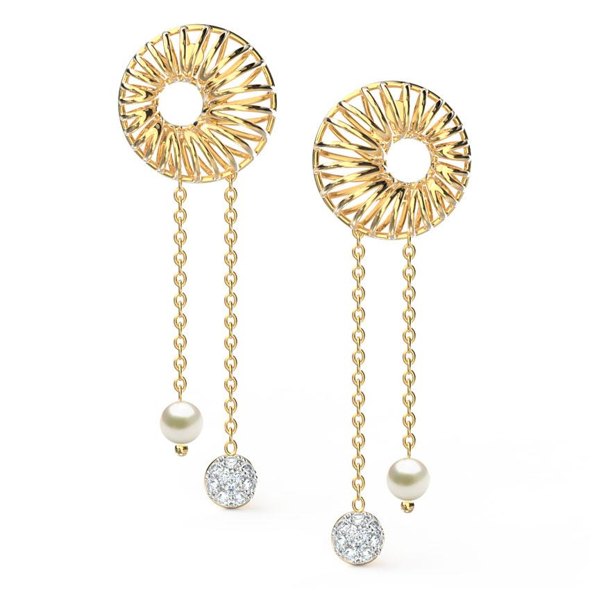 Orb String Art Drop Earrings