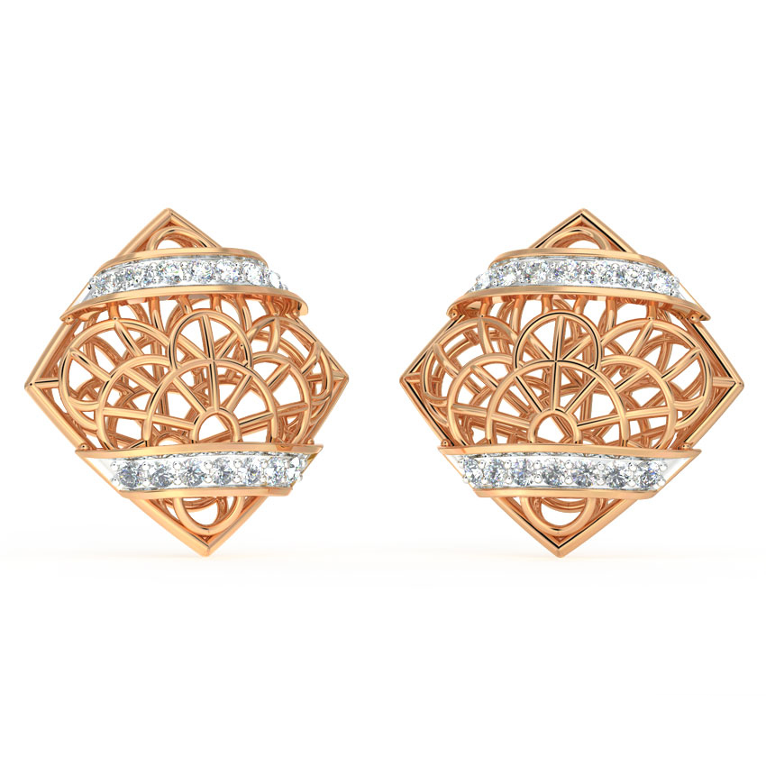 Intricate Mesh Stud Earrings