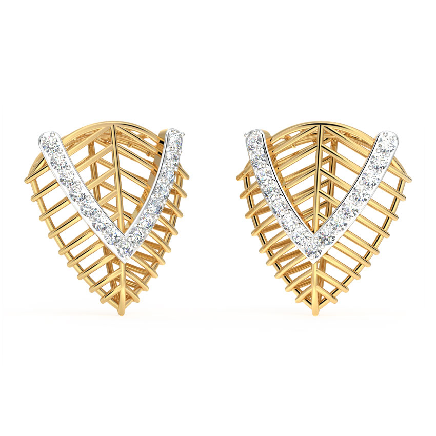 Leaf Mesh Stud Earrings