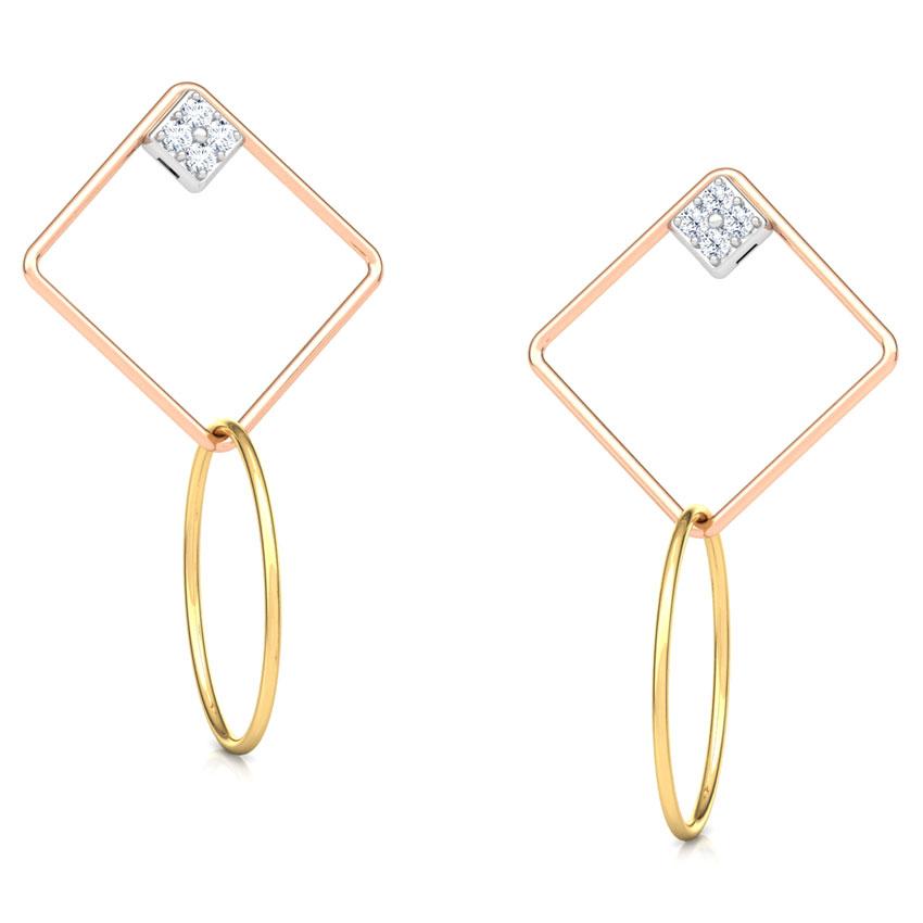 Quad Sparkle Drop Earrings