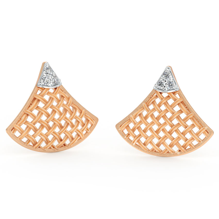 Flare Twill Stud Earrings