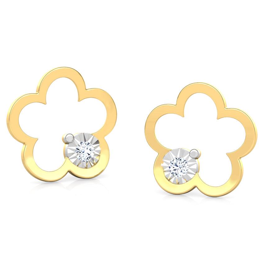 Buttercup Miracle Plate Stud Earrings