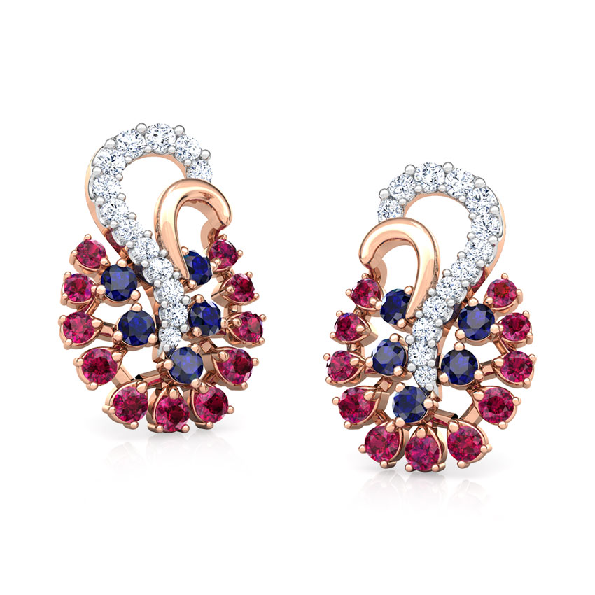 Mishti Vibrant Stud Earrings