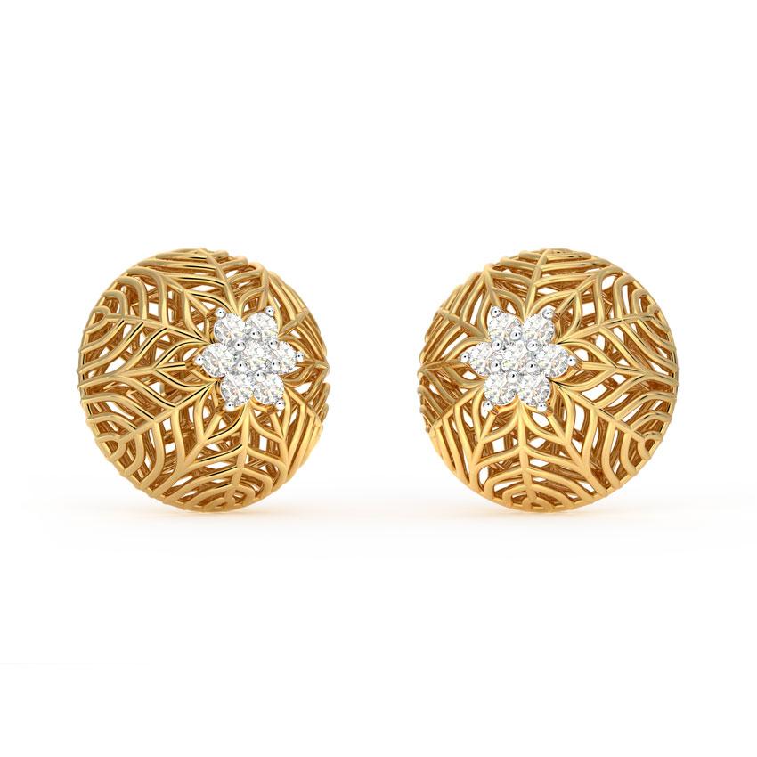 Snowflake Mesh Stud Earrings