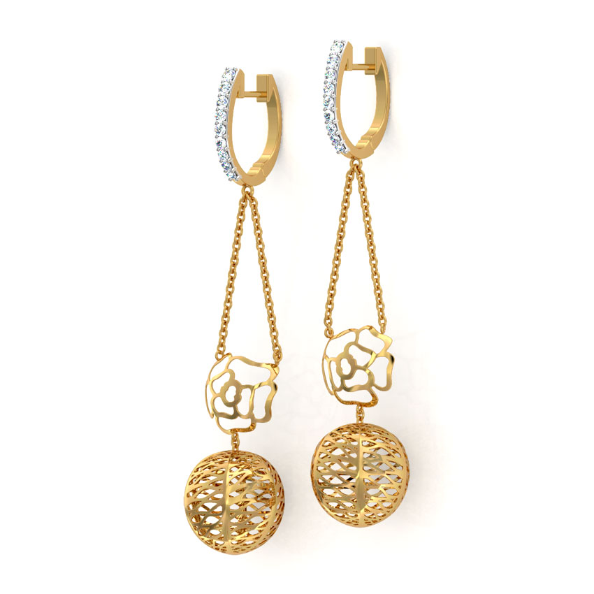 Rose Cutout Drop Earrings