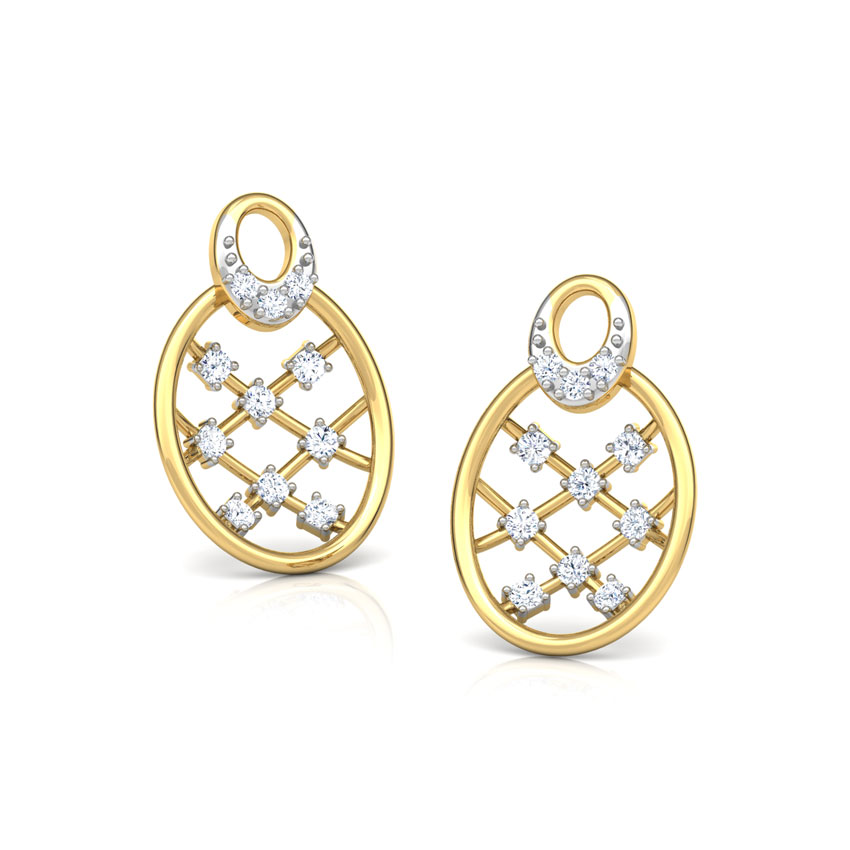 Lattice Diamond Stud Earrings